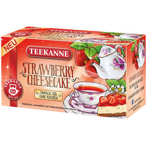 Teekanne Sweetea Strawberry-Cheesecake, Früchtetee, Teebeutel im Kuvert