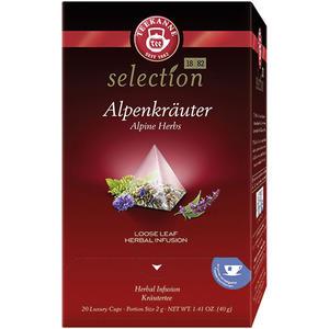 Teekanne Selection Alpenkräuter, Kräutertee, Pyramidenbeutel im Kuvert