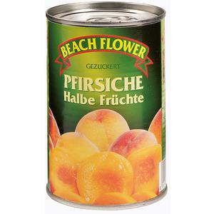 Beach Flower Pfirsich-Hälften, gezuckert
