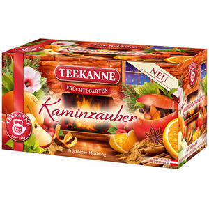 Teekanne Früchtegarten Kaminzauber, Teebeutel im Kuvert