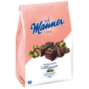 Manner Schnitten Haselnuss-Mignon UTZ
