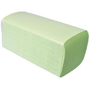 Papier-Falthandtücher grün, ZZ-Faltung, 2-lagig, 24 x 11 cm, 100 % Zellstoff, EINZELPACKUNG