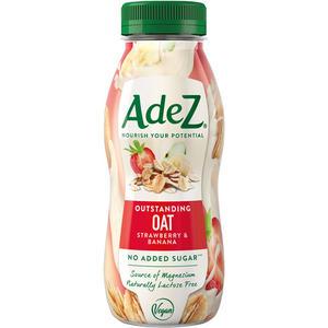 AdeZ Outstanding Oats Strawberry & Banana, Hafer/Erdbeere/Banane, ohne Zuckerzusatz, PET