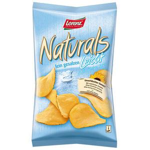 Lorenz Naturals, Chips mit 30 % weniger Fett, leicht gesalzen