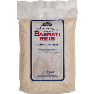 Schenkel Basmati-Reis aus Indien, Langkornreis, GROSSPACKUNG