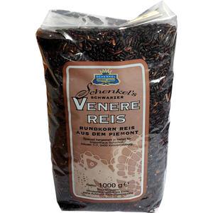 Schenkel Schwarzer Venere Reis aus dem Piemont, Rundkornreis