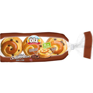 Ölz Mini-Schnecken Schoko & Creme UTZ, 6 Stück EINZELVERPACKT