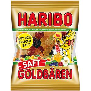 Haribo Saft-Goldbären, mit 22 % Fruchtsaft