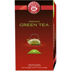Teekanne Premium Green Tea Sencha-Mischung, Grüntee, Teebeutel im Kuvert