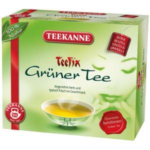 Teekanne Teefix Grüner Tee, Teebeutel im Kuvert