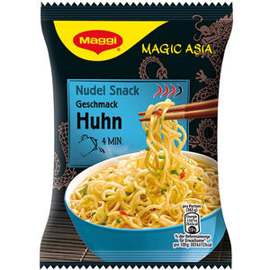 Maggi Magic Asia Nudel Snack Huhn, 1 Portion
