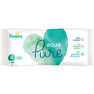 Pampers Feuchttücher Aqua Pure, Travelpack