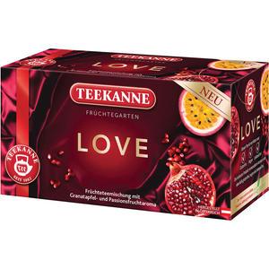 Teekanne Früchtegarten LOVE Granatapfel-Passionsfrucht, Teebeutel im Kuvert
