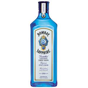 Bombay Sapphire London Dry Gin, 10 handverlesene Botanicals, 40 % Vol.Alk.