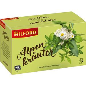 Milford Alpenkräuter, naturbelassener Kräutertee, Teebeutel im Kuvert