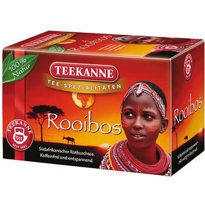 Teekanne Rooibos, Rotbuschtee, Teebeutel im Kuvert