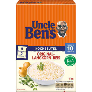 Uncle Ben's Original Langkorn-Reis 10 Minuten, 8 Kochbeutel