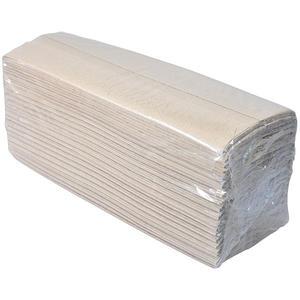 Papier-Falthandtücher natur mit Prägung, C-Faltung, 1-lagig, 25 x 9 cm, 100 % Recycling-Papier, EINZELPACKUNG