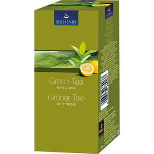 Sir Henry Tchibo Grüner Tee mit Zitrone, Teebeutel im Kuvert
