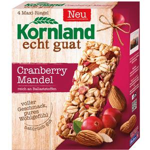 Kornland echt guat Müsli-Riegel Cranberry-Mandel, 4 Maxi-Riegel