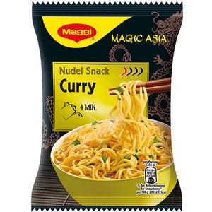 Maggi Magic Asia Nudel Snack Curry, 1 Portion