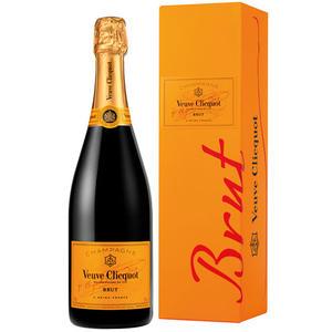 Veuve Clicquot Yellow Label Brut Champagne, im Geschenkkarton