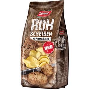 Lorenz Rohscheiben mit Steinsalz, Kartoffelchips
