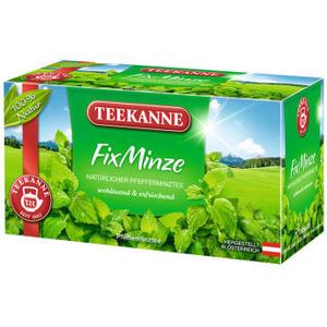 Teekanne FixMinze, natürlicher Pfefferminztee, Teebeutel im Kuvert