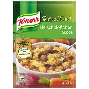 Knorr Bitte zu Tisch! Fleischklößchensuppe, 4 Teller