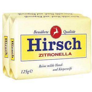 Hirsch Zitronella, milde Hand- und Körperseife, 2 Stück