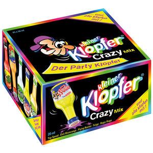 Kleiner Klopfer Crazy Mix, 5 Sorten mit 15 - 20 % Vol.Alk., 25 x 20 ml