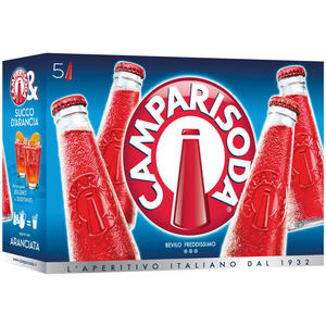 Campari Soda, fix & fertig gemischt, 10 % Vol.Alk., 5 x 98 ml Flasche