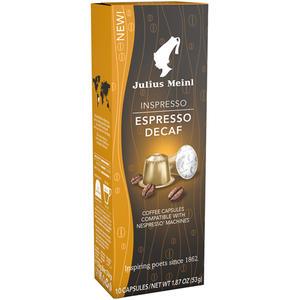 Julius Meinl Inspresso Espresso Decaf, koffeinfrei, Nespresso-kompatibel, 10 Kaffeekapseln