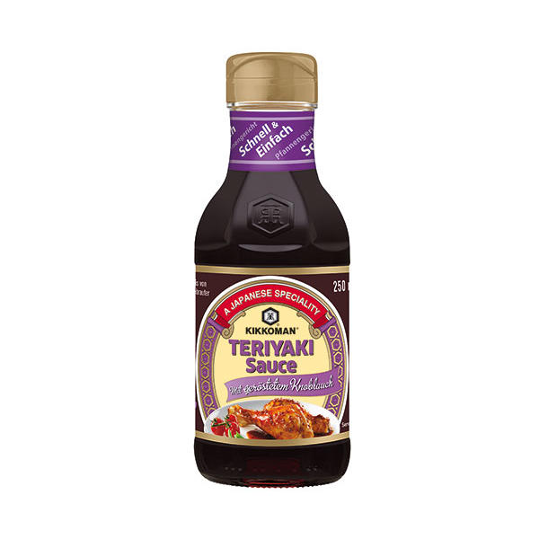 Kikkoman Teriyaki Sauce mit geröstetem Knoblauch, Sojasauce