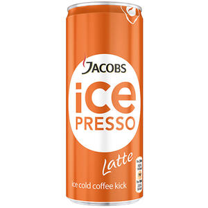 Jacobs Icepresso Latte, Kaffee mit Magermilch, Dose