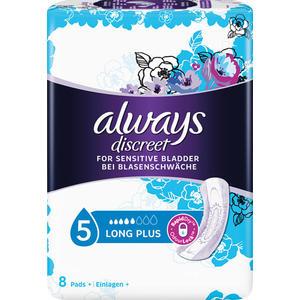 Always discreet Inkontinenz Long Plus 5 Einlagen, mittlere Blasenschwäche