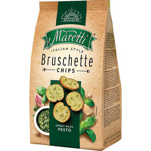 Maretti Bruschette Sweet Basil Pesto, Brotchips