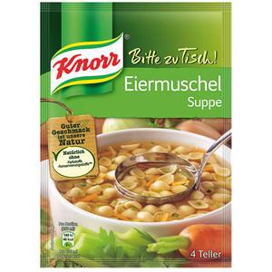 Knorr Bitte zu Tisch! Eiermuschelsuppe, 4 Teller