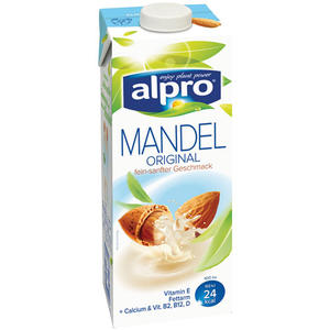 Alpro Mandel Drink Original, aus Mandeln ohne Soja