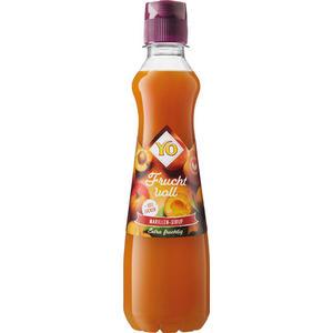 YO Fruchtvoll Marillen-Sirup, 30 % weniger Zucker, PET
