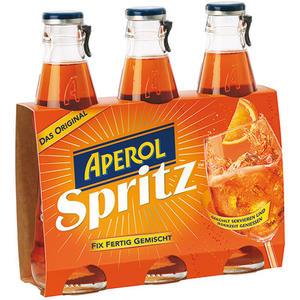 Aperol Spritz, fix & fertig gemischt, 9 % Vol. Alk., 3 x 175 ml Flasche