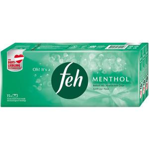 Feh Menthol Taschentücher, 4-lagig, 15 x 9 Stück