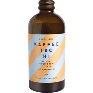 Kaffeetschi Kokos Latte, Natural Cold Brew Coffee mit Kokosmilch, ohne Zuckerzusatz, Glasflasche
