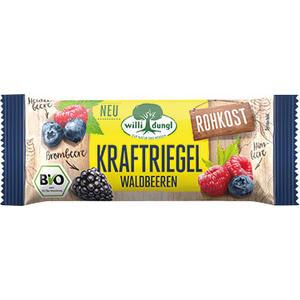 Willi Dungl Bio Kraftriegel Waldbeere, Rohkostriegel