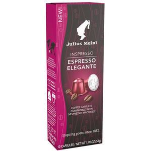Julius Meinl Inspresso Espresso Elegante, Nespresso-kompatibel, 10 Kaffeekapseln