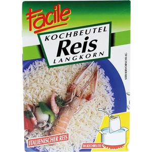 Facile Langkorn-Reis aus Italien, im Kochbeutel