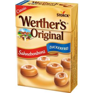 Werther's Original Minis Sahnebonbons Zuckerfrei, Taschenpackung