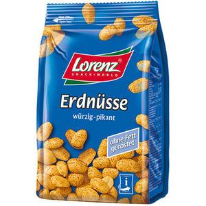 Lorenz Erdnüsse würzig-pikant, ohne Fett geröstet