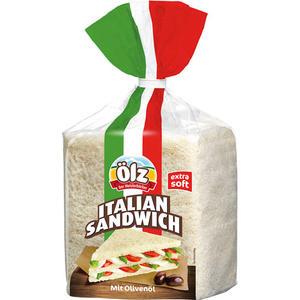 Ölz Italian Sandwich mit Olivenöl, extra soft (Tramezzini-ähnlich, nur dicker)