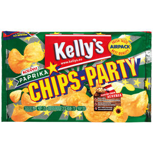 Kelly's Original Chips-Party Paprika, Standbeutel
